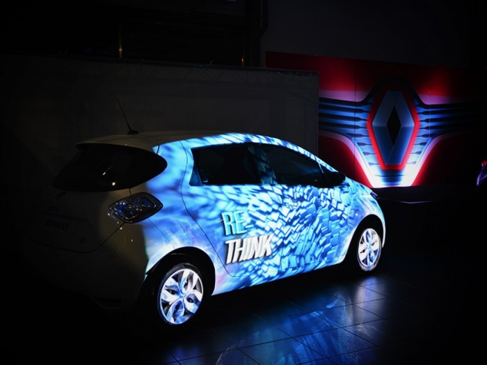 Animation innovante - Mapping objet : Lancement Renault Zoé