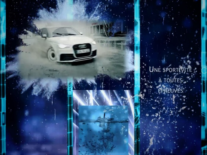Animation innovante - Mapping façade : Inauguration concession Audi