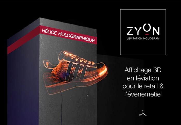 Zyon - Location hélice holographique pour un affichage 3D qui flotte dans les airs !